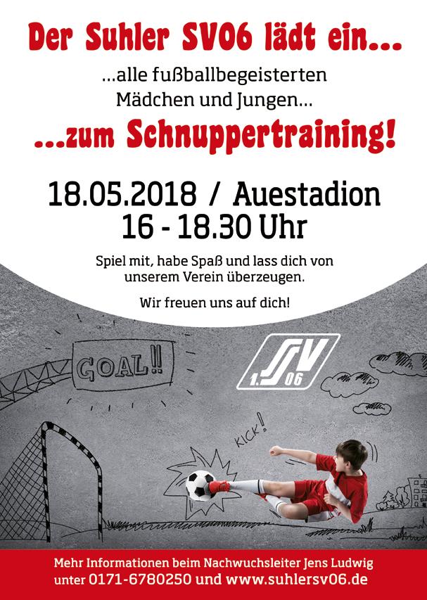 Schnuppertraining Flyer