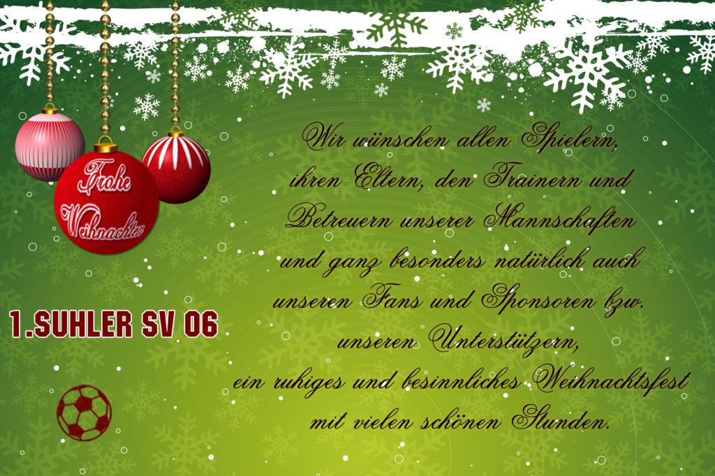 Weihnachtsgruß Suhler SV 06